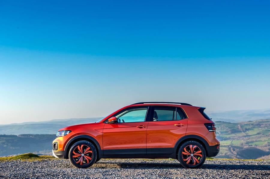 Volkswagen T-Cross side profile static