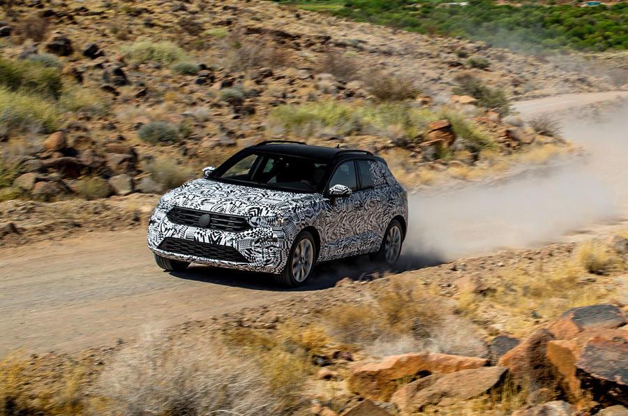 Volkswagen T-Roc prototype cornering