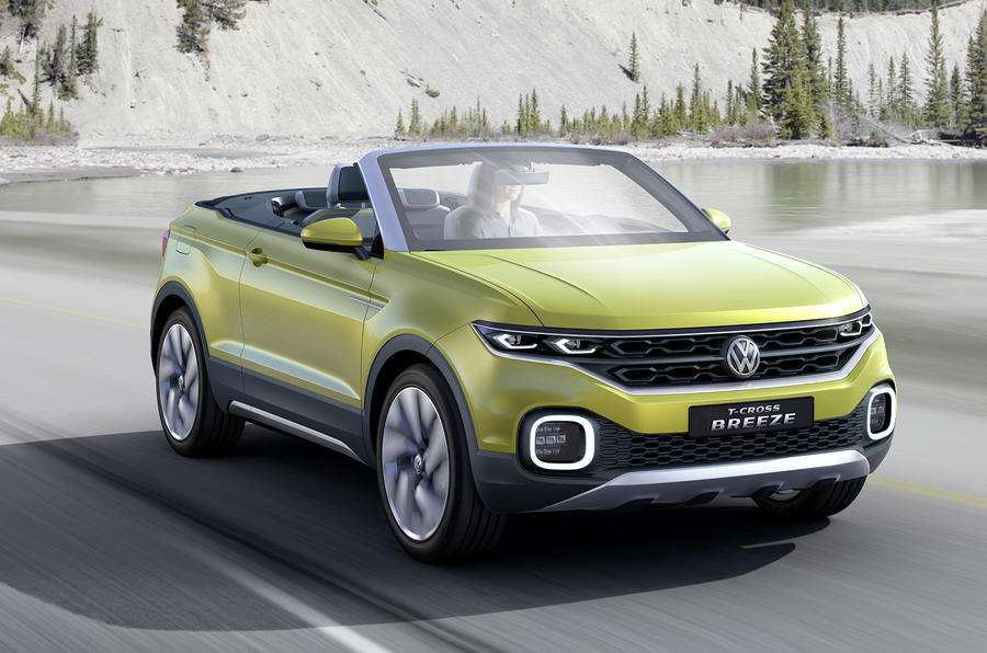 volkswagen t cross breeze unveiled at geneva motor show autocar. Black Bedroom Furniture Sets. Home Design Ideas