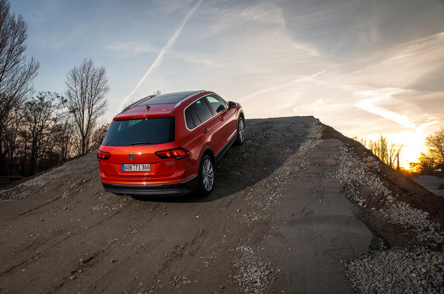 Volkswagen Tiguan TSI rear off-roading