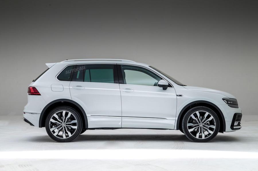 2016 Volkswagen Tiguan SUV's exterior & interior renderings ...