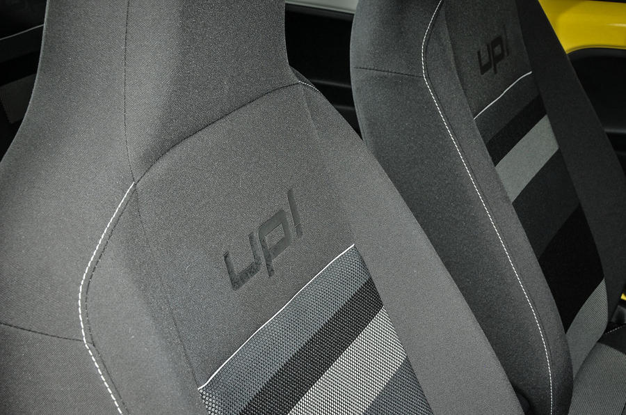 Volkswagen Look Up seat stitching