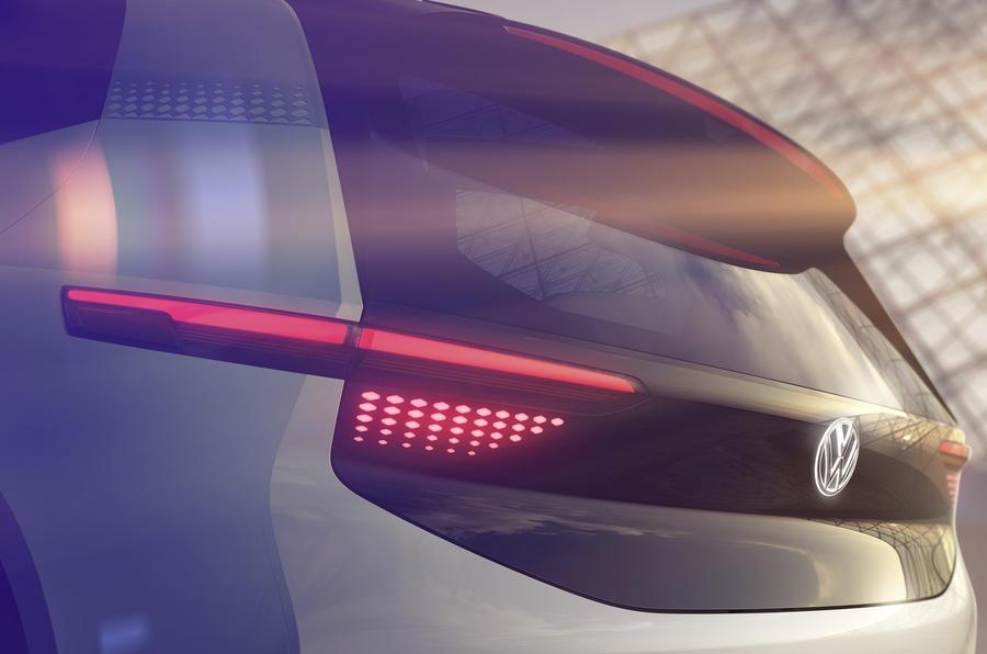 Volkswagen EV teased ahead of Paris motor show