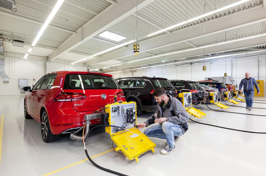 Emissions testing Volkswagen