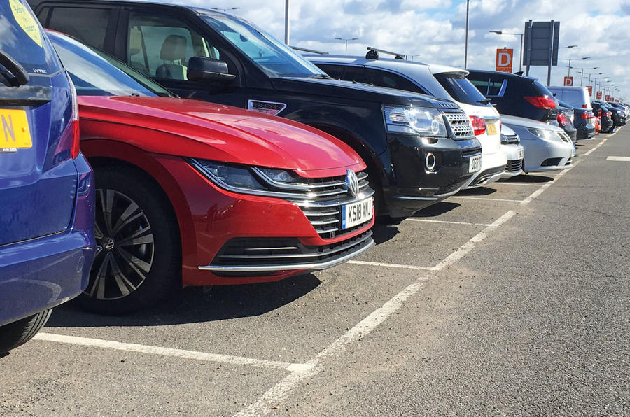 Arteon airport carpark