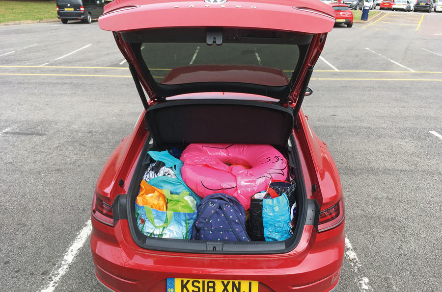 VW Arteon with boot filled