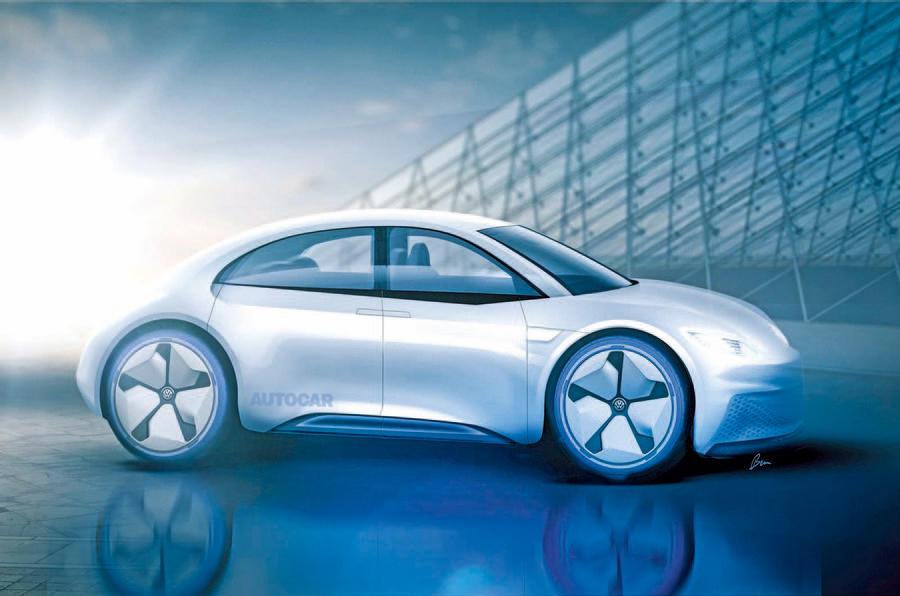 Volkswagen Beetle electric Autocar rendering