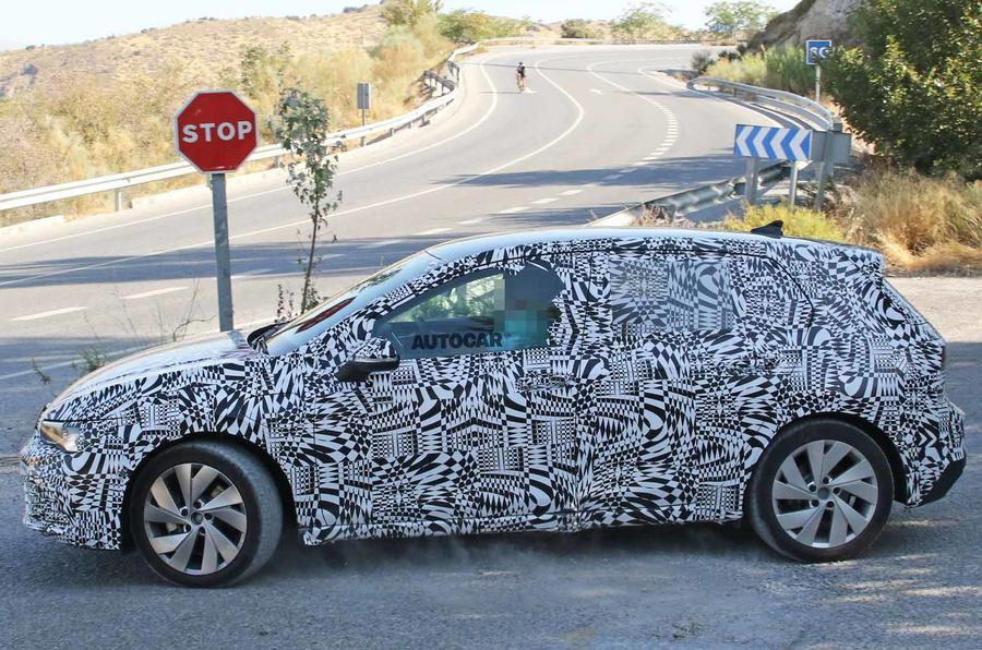 New Volkswagen Golf Mk8: GTE variant seen for first time