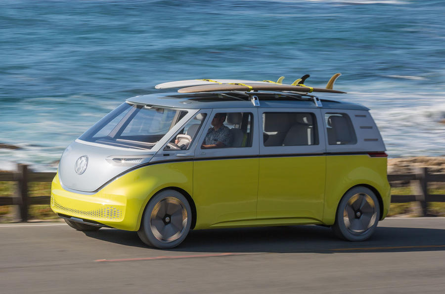 first drive volkswagen id buzz concept review autocar. Black Bedroom Furniture Sets. Home Design Ideas