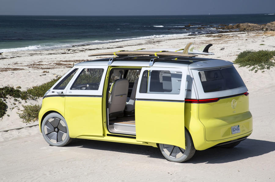 volkswagen to put microbus inspired id buzz electric car