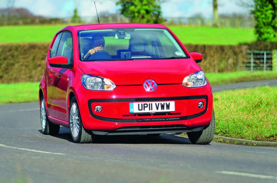 Volkswagen Up cornering- front