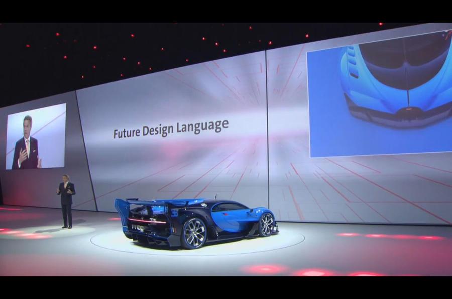 Bugatti Vision Gran Turismo show car