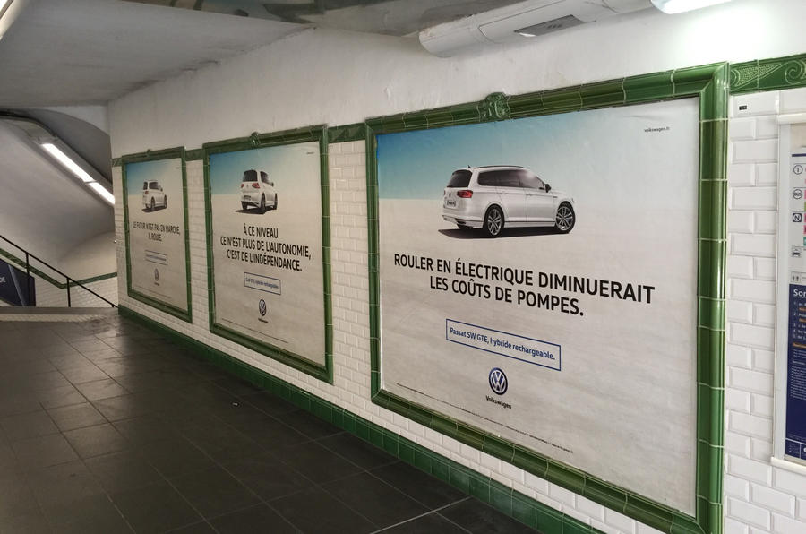 VW Paris station advert takeover