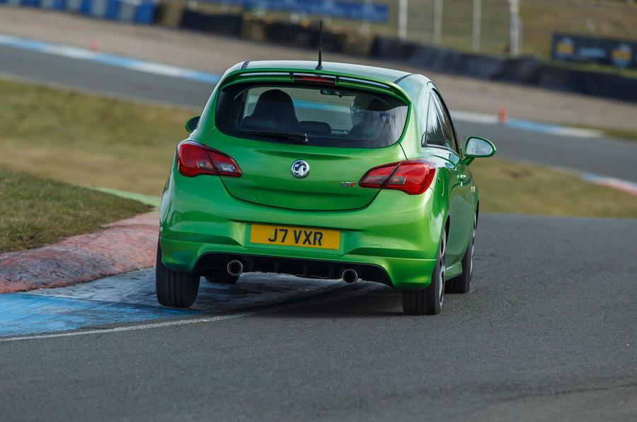 Vauxhall Corsa VXR rear cornering