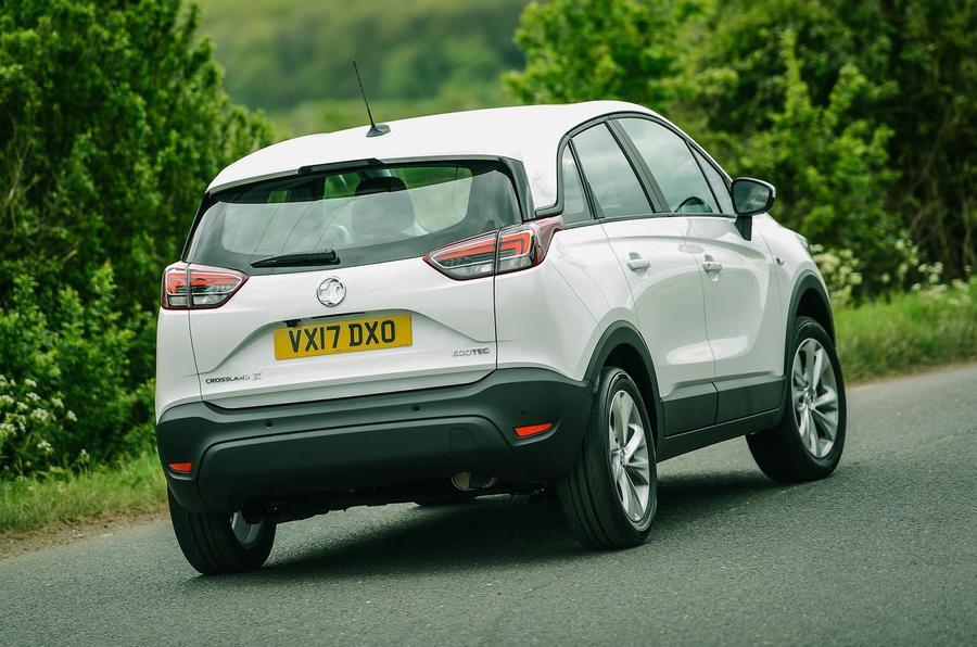 Vauxhall Crossland X rear cornering
