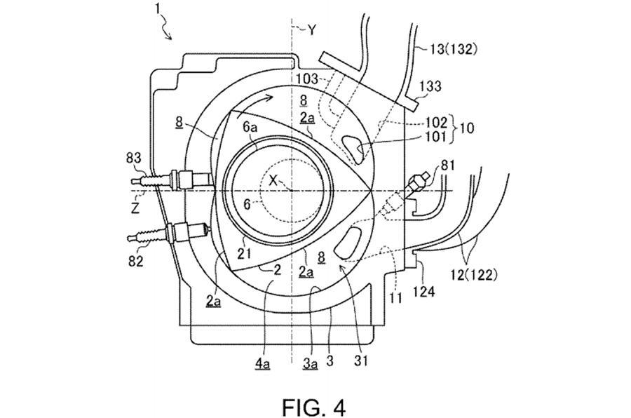 Mazda Wankel engine patent