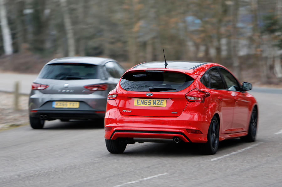 Seat Leon, Ford Focus, Vauxhall Astra versus Mazda 3