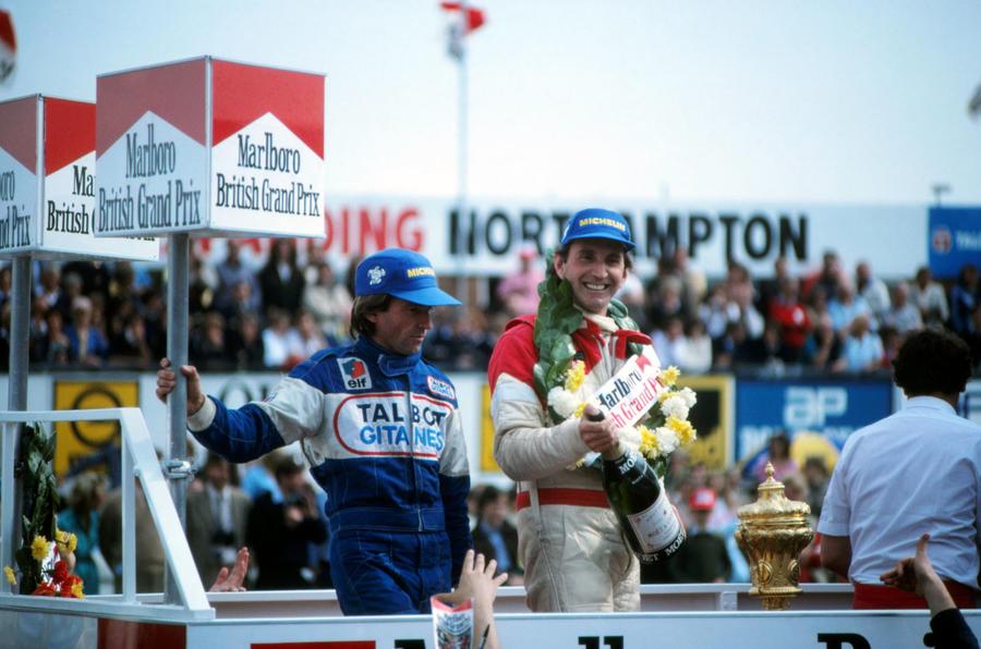 John Watson on the podium 1981