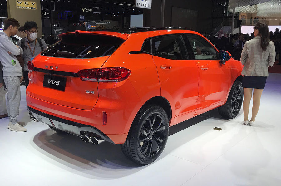 Wey VV5 SUV - Shanghai motor show 2019 reveal rear