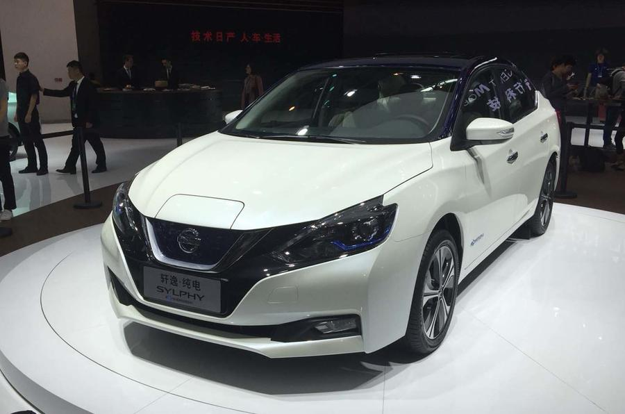 Nissan Sylphy Zero Emission revealed as Leaf-based EV for ...
