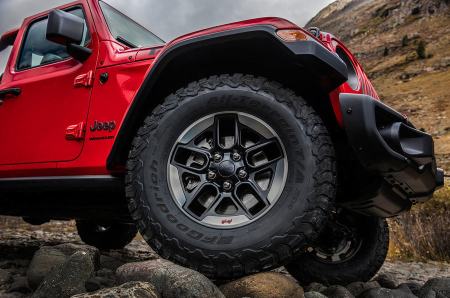 The Jeep Wrangler's Willys wheel detail