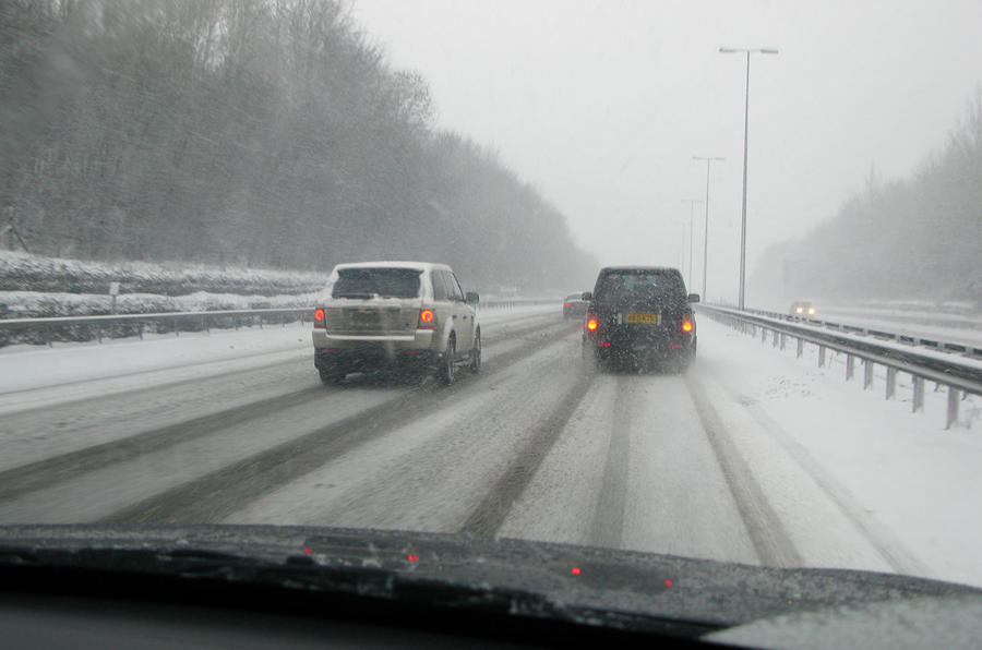 motorway driving in snow