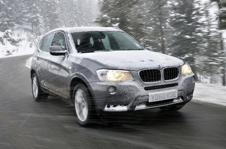 BMW X3 in snow