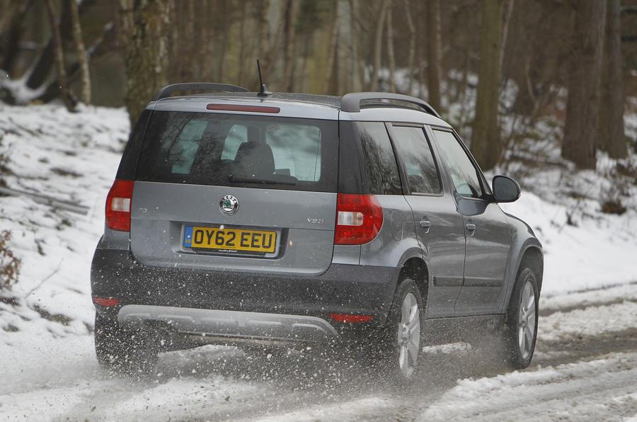 Skoda Yeti in snow