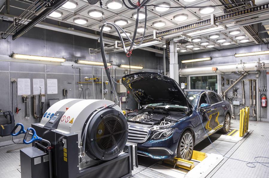 WLTP testing Mercedes