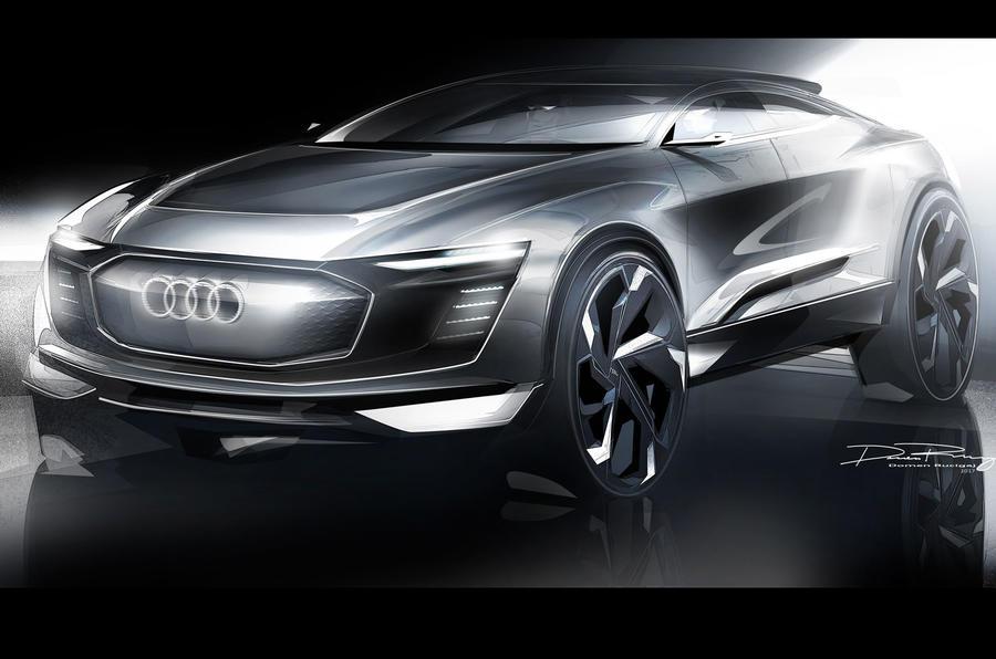 Futuristic Audi e-tron concept previewed in new sketches