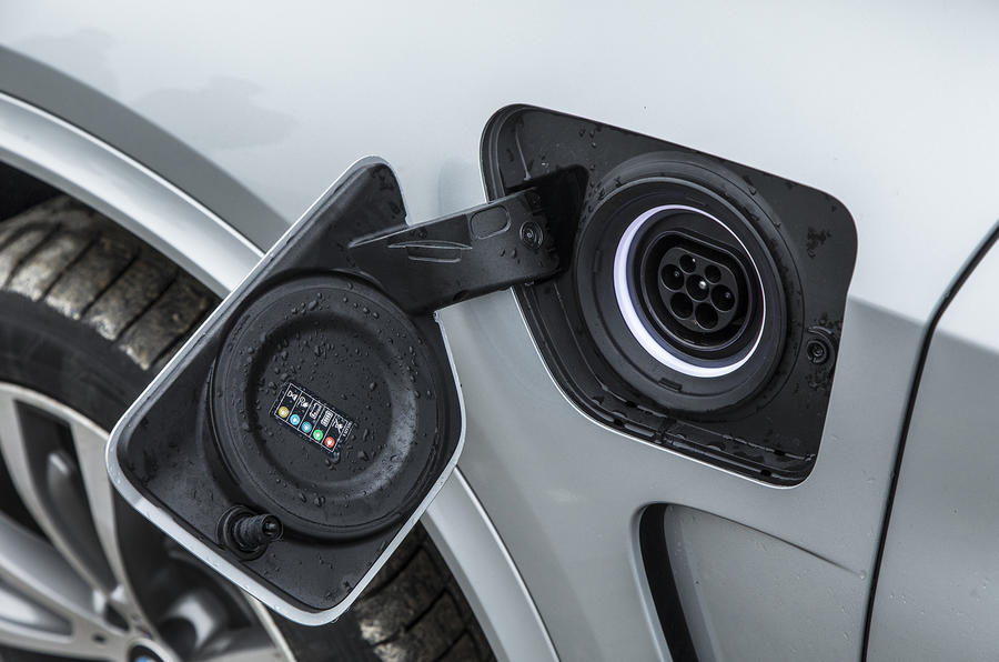 BMW X5 xDrive40e charging point