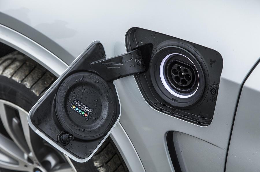 BMW X5 xDrive40e charging point