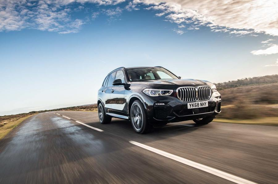 BMW X5 driving - front
