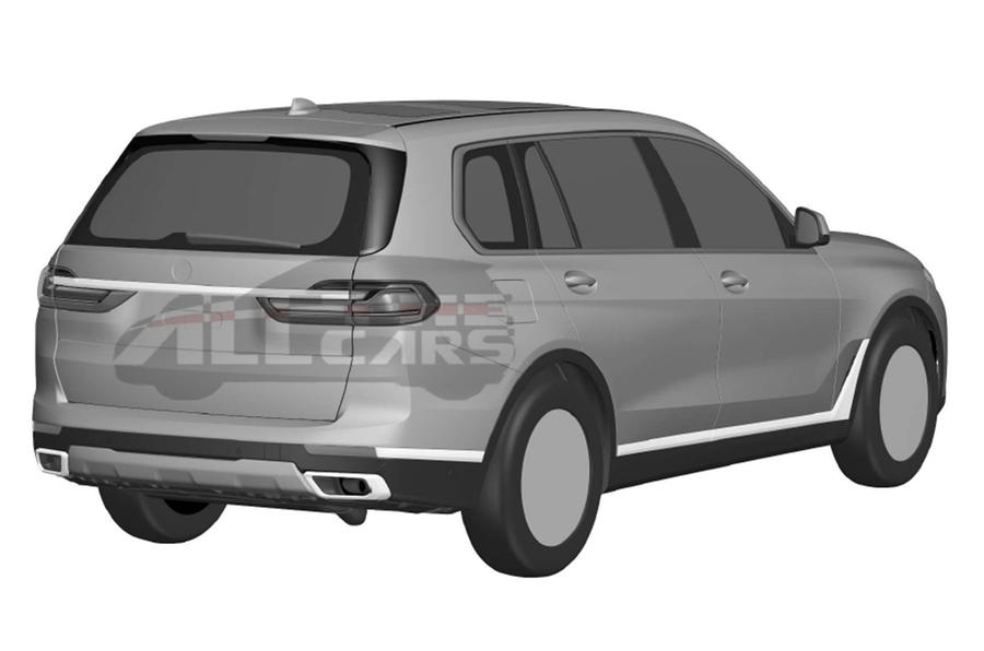 Production BMW X7: patent images reveal final design