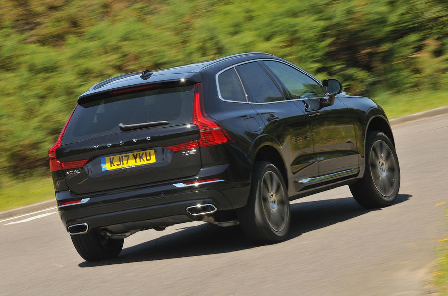 Elegant Volvo XC60 T8 Rear Cornering