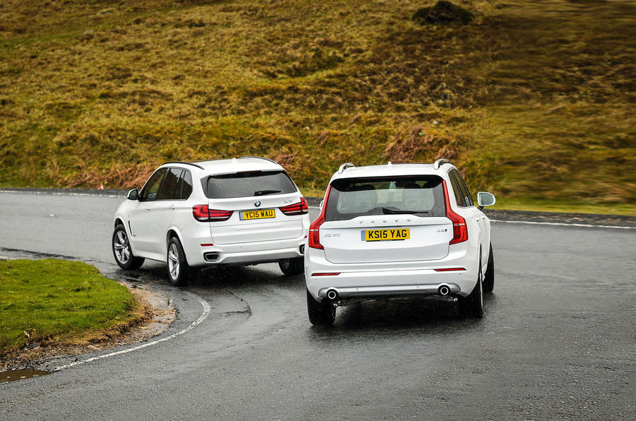 Range Rover Vs Land Rover >> Volvo XC90 versus BMW X5 and Land Rover Discovery - comparison | Autocar