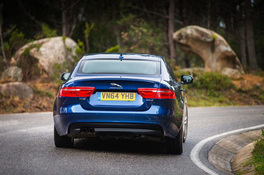 Jaguar XE R-Sport rear cornering
