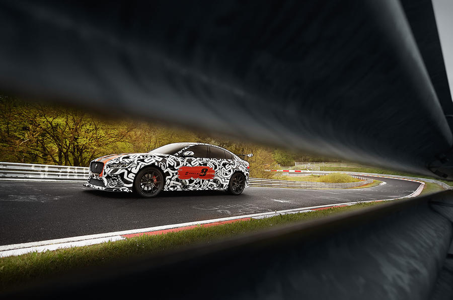 New Jaguar XE SV Project 8 takes to the Nurburgring ahead of Wednesday ...