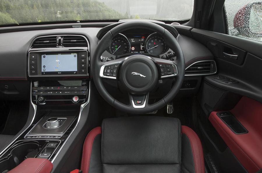 Jaguar XE S dashboard