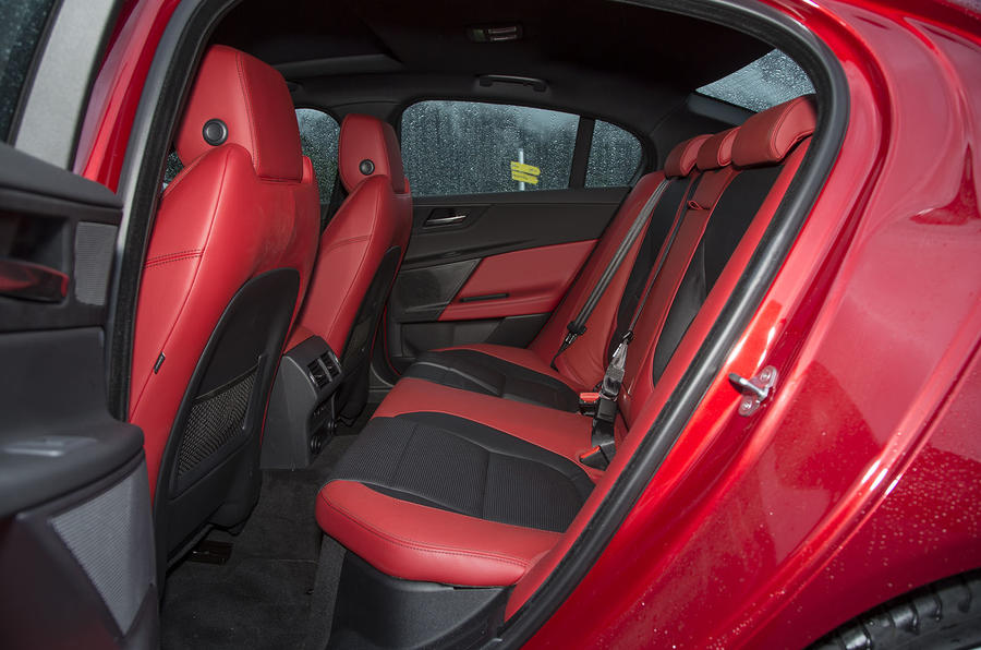 Jaguar XE S rear seats