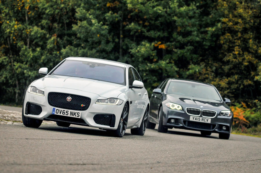 jaguar xf versus bmw 5 series - comparison | autocar