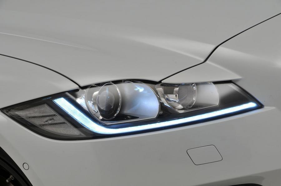 Jaguar XF LED headlights