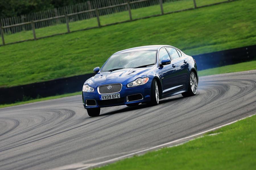 Jaguar XFR drifting