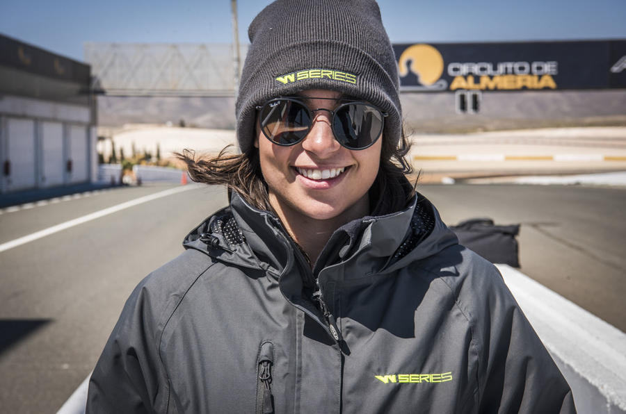 W Series racer Jamie Chadwick