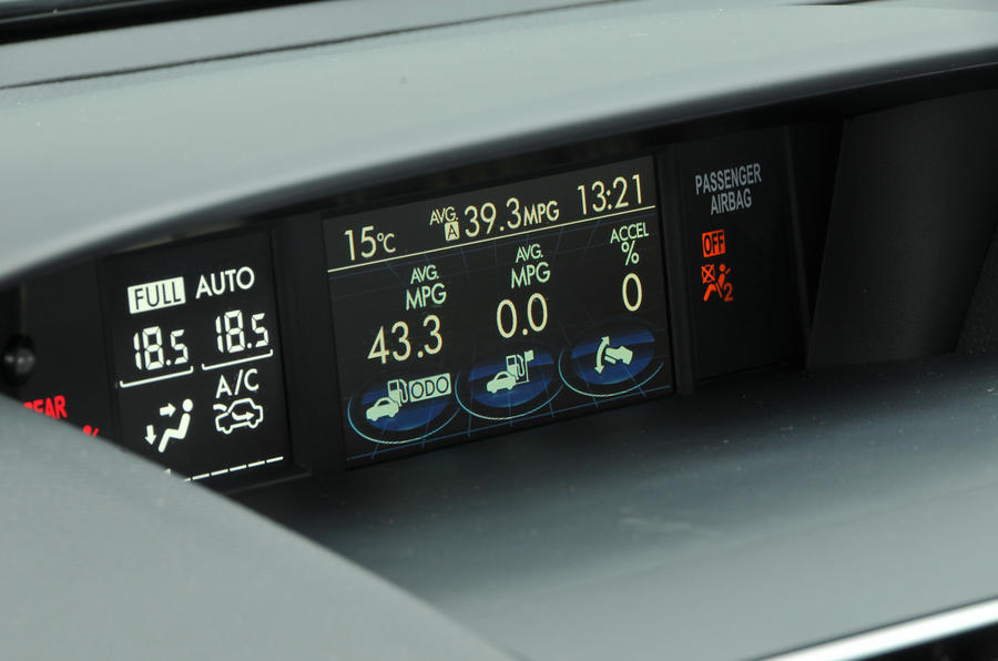 Subaru XV instrument cluster