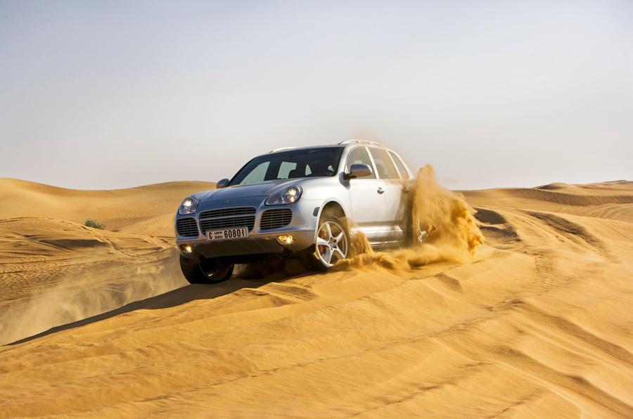2002 Porsche Cayenne on sand dunes
