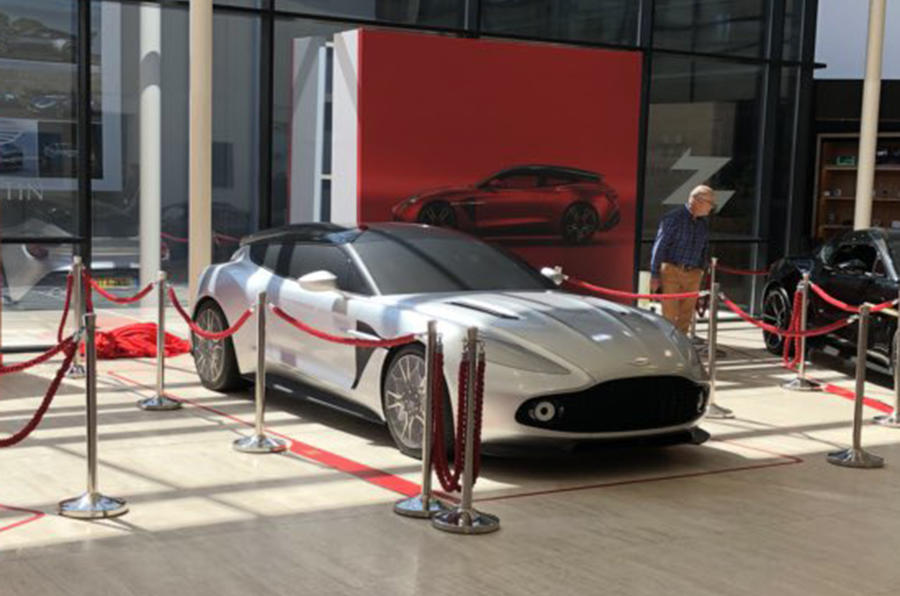 Aston Martin Vanquish Zagato Shooting Brake styling shown in life-size model