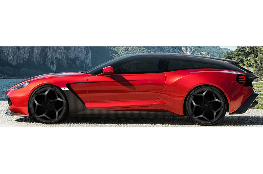 Aston Martin Vanquish Zagato Shooting Brake Styling Shown In Life