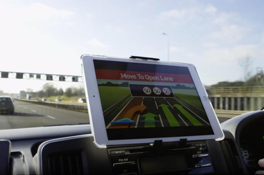Self-driving car satellite navigation screen