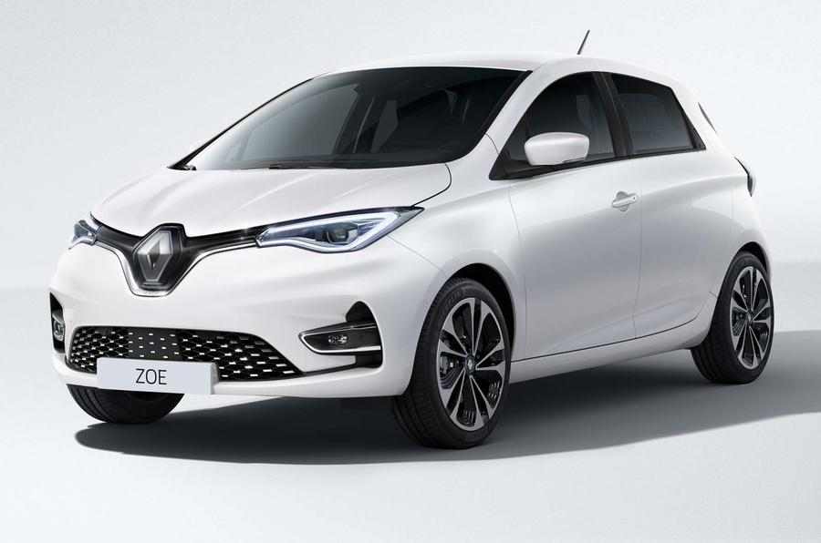 2019 Renault Zoe in white - static front